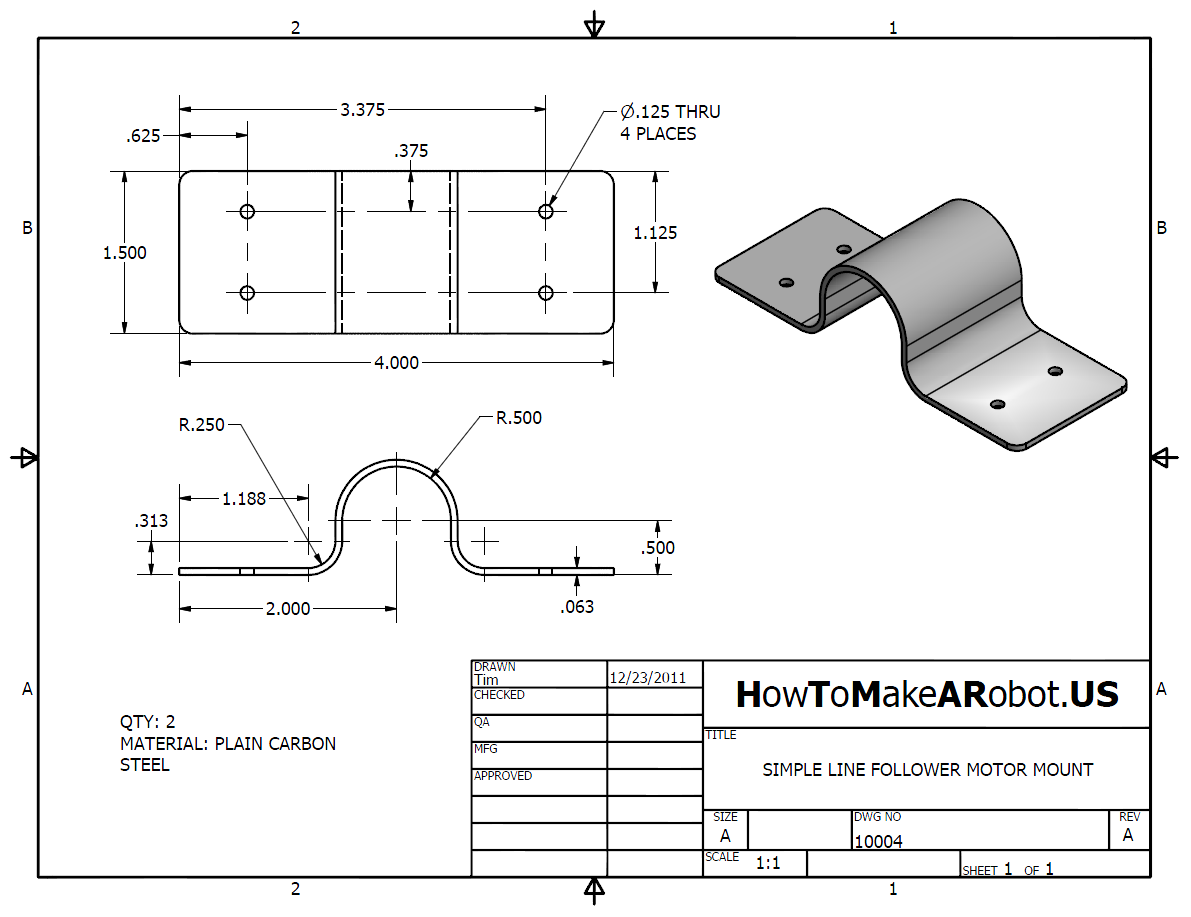 Simple Line Follower Part 1 Mechanical Design How To Make A Robot Schematic