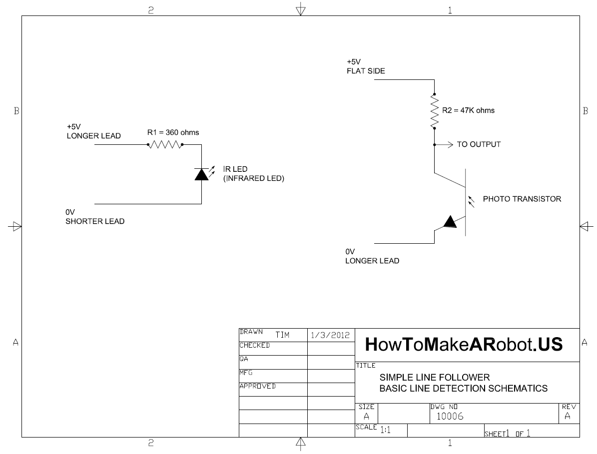 Simple Line Follower Part Ii Sensor Array Electronics How To 2 Transistor Robot General Schematic