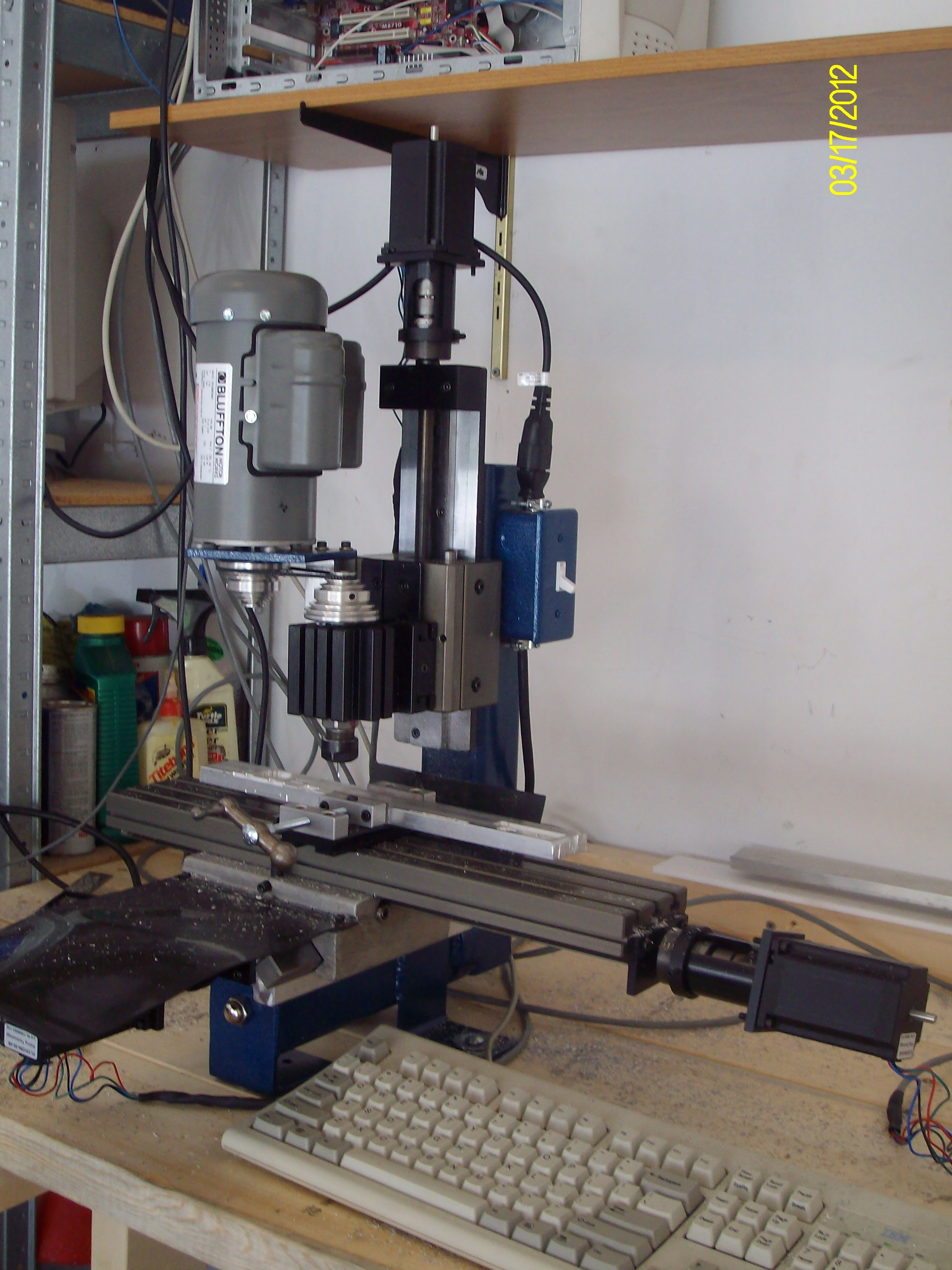 Taig CNC mini-mill close-up