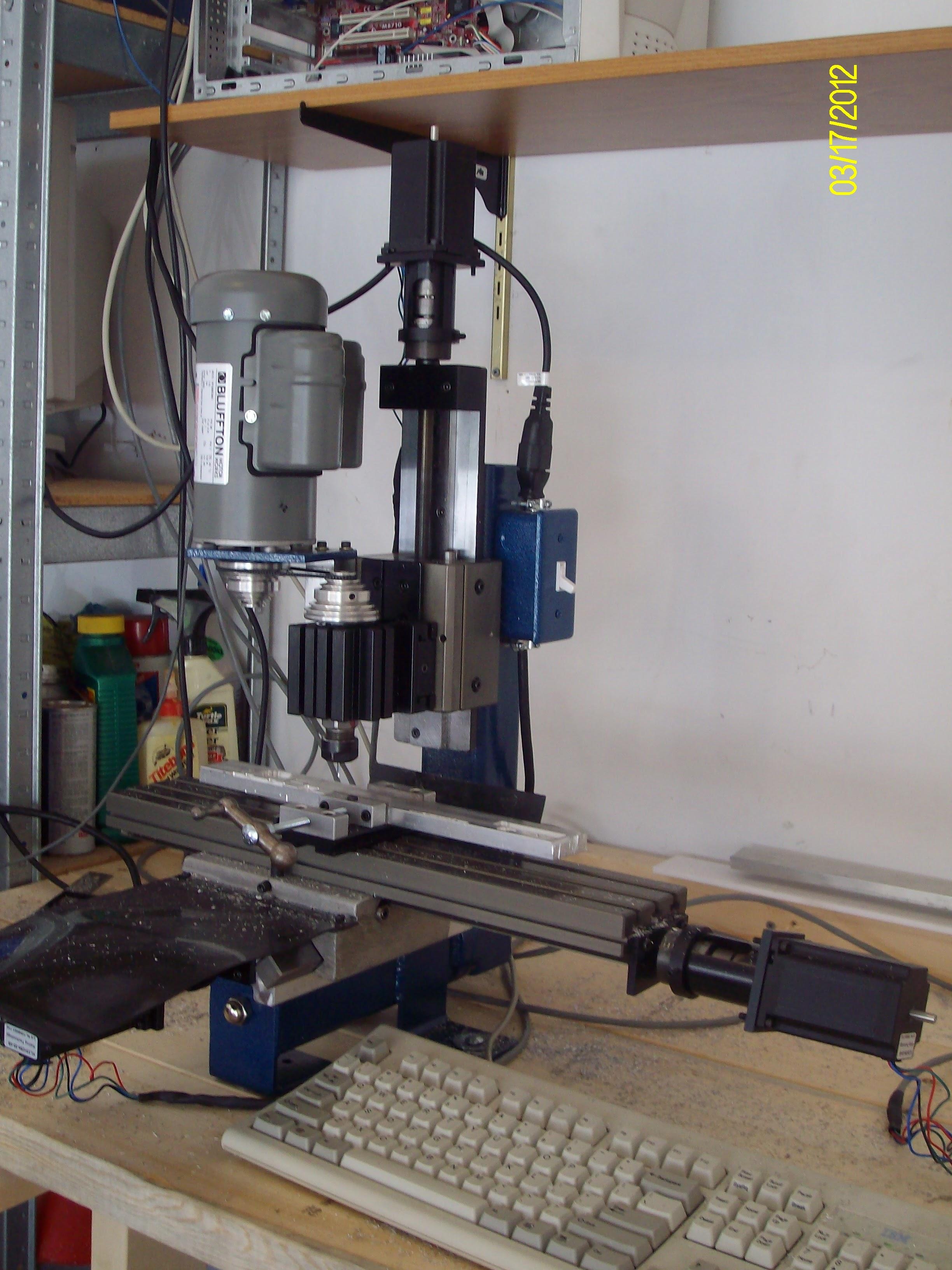 Taig CNC mini-mill close-up